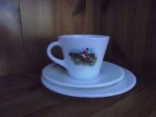 VINTAGE JAJ PYREX HUNTING SCENE TRIO CUP SAUCER TEA PLATE TALLY HO 2 AVAILABLE