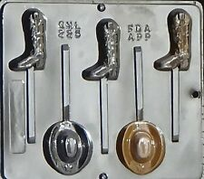 Cowboy Hat & Boot Lollipop Chocolate Candy Mold  225 NEW