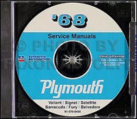 1973 Plymouth Shop Manual CD Roadrunner Satellite Fury Barracuda Duster Valiant