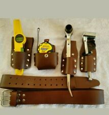 Brown Scaffolding Heavy Duty Leather Tool Belt Set  (HALF PRICED )