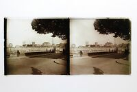 Bretagna Ville A Identificare Francia Foto Stereo 10n30 Placca Lente Vintage