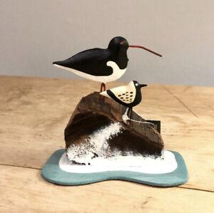 Seashore birds, oyster catcher and sanderling standing ornament by shoeless joe