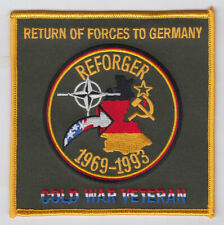 "Return Of Forces To Germany-Reforger Cold War Veteran 4.2"" Square Patch"