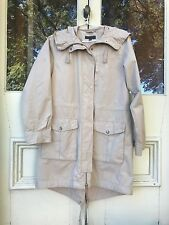 Uniqlo light fawn coloured wind jacket with hood in size M