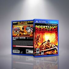 Resistance: Burning Skies - PlayStation Vita Cover and Case. NO GAME!!