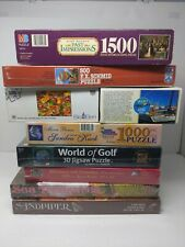 """9 Jigsaw Mixed Puzzle Lot Of """"NEW & SEALED BOXES """""""