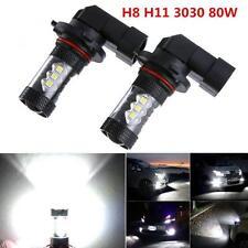 2pcs 80W H8 H11 LED Fog Driving Lamp White 6500K LED Car Headlights Lamp Bulb