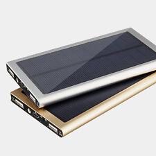 Power Bank Solar 10000 mAh Ladegerät Zusatzakku Akku Pack Slim Dual Handy Laptop