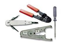 Abisolierer + Krimpzange + LSA Auflegewerkzeug + Kabelprüfer