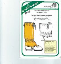 Green Pepper F734 Pacific Crest Gaiters Adult and Child  Sewing Pattern
