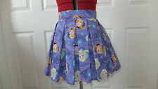 NEW HAND CRAFTED FROZEN ELSA ANNA PLEATED MINI SKATER SKIRT SIZE 6 - 8 TEEN