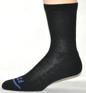 Fits Socks Casual Black Crew Quick Dry Merino Wool Size Medium