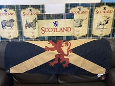 More details for scottish flag with saltire cross and lion rampant flag double sided 101x 50cms