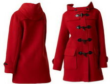 Oversized Toggle wool blend  Hooded COAT Jacket YJ075 Red plus Size 3X 4X