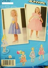 Girl Simplicity 2430 Pattern Project Runway Party Dress UNCUT Size 1/2-1-2-3