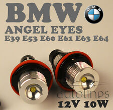 BMW Angel Eyes 10W Bridgelux Chip LED Marker White Headlight E39 E53 E60 E61 E63