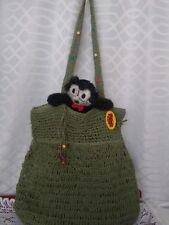 NWOT 100% PAPER Featherweight VEGAN Woven Green Large Hobo Shoulder Handbag