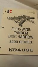 Krause Owners Manual For 8200 Series Flew Wing Disc Harrow