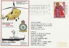 (84607) CLEARANCE GB Cover PAQUEBOT POSTED AT SEA RAF Newhaven 31 Oct 1972