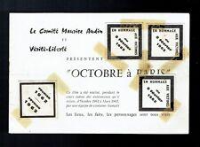 Rare doc Audin Vérité Liberté Octobre à Paris 1962 - Guerre d'Algérie