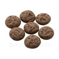 5x Miniatura per Casa Delle Bambole Doppio Cioccolato Chip Biscotti