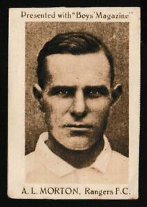 Boys' Magazine - 'Footballers' (1922) - Card #20 - A.L. Morton (Rangers)