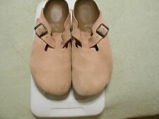 Birkenstock Boston Pink Suede, Size 39 Narrow
