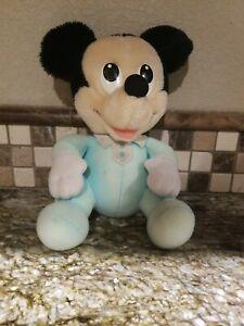"""Vintage 1984 Playskool Babies 7"""" Mickey Stuffed Plush Hasbro"""