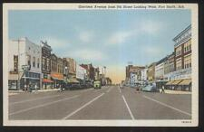 Postcard FT FORT SMITH Arkansas/AR  Garrison Ave Business Storefronts 1940's