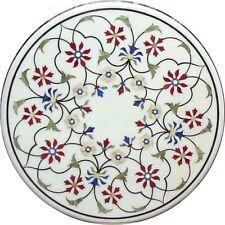 "36"" marble inlay Table Top pietra dura marquetry handicraft art work home decor"