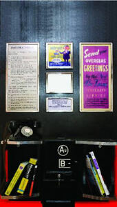 K6 RED TELEPHONE BOX FULL SIZE INTERIOR - VINYL PRINT WITH STICKY BACK