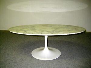 Knoll International Tisch  Eero Saarinen  Oval   Sofatisch Marmor Tulip Table