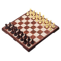 12.2x12.2inches Folding Magnetic Travel Chess Set Plastic Board Game for Kids