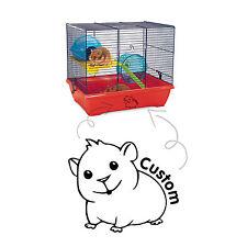 Personnalisé cage hamster tank house home vinyl decal sticker verre voiture fenêtre