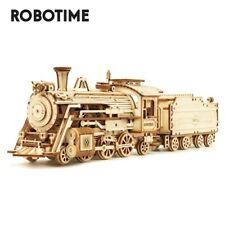 Robotime Laser Cut Train Model Kits 3D Wooden Puzzle 308pcs Toy for Kids Teens