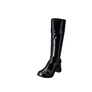 Ellie GoGo Women's Black Leather Zipper Closure Knee High Fashion Boots US 9