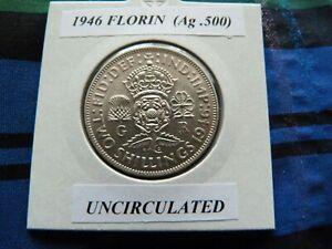 UNCIRCULATED? 1946 FLORIN  (Silver .500)  George VI pre 1947