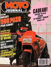 MOTO JOURNAL  897 Essai Road Test DUCATI 906 Paso HONDA MTX 125 KAWASAKI KDX 200