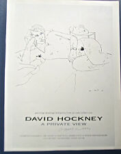 David Hockney A Private View Show Poster Reprint  in  London (Male Nudity)