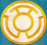 "Large 8"" Yellow Lantern Corps Classic Style Embroidered Iron-On Patch"