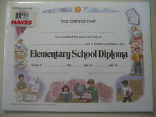 25 pack of Elementary School Diploma Certificates (form #Va222 printed 1999) New