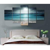 Set di 5 quadri pannelli decorativi dipinti a mano tramonto 30/40 / 50cm