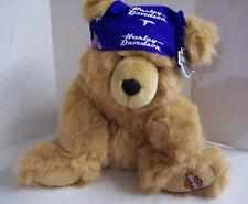 "Harley-Davidson Stuffed Bear W/Blue Doo Rag, 12"", Brown, Brand New"