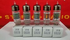 JAN 6829 GE Sleeve of 5 NOS Gray Plate O Getter Tubes (SUB 12AT7 ) Hickok Tested
