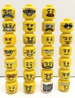 Boy Lego Assorted Minifigure Heads  X10 Male Guy Spare Parts Item #3