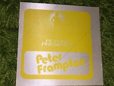Peter Frampton Vintage Concert backstage pass Colorado - Yellow