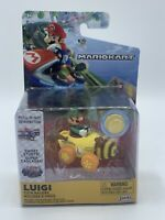 World Of Nintendo Super Mario Mario Kart 7 Coin Racers Series 1 Luigi Figure NEW