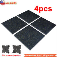 4pcs Eco-Sport Floor Tiles 20x20'' Heavy Duty Interlocking Floor Mat Anti-Slip