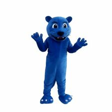 Blue Panther Lion Mascot Halloween Costume Suits Cosplay Party Game Dress Adults