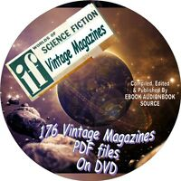 IF WORLDS OF SCIENCE FICTION - 176 VINTAGE ISSUES - PDF FILES ON DVD - MAGAZINE